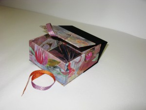 Lotus Box 6 X 5 inches with Handmade Paper