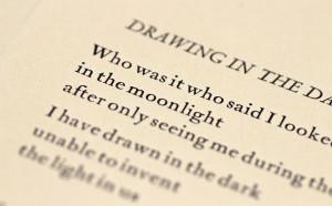 Drawing in the Dark Letterpress